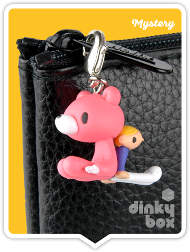 "OPEN BOX Kidrobot Gloomy Bear : 1"" Friends CHASE Gloomy zipper pull ?/?? (complete with all original packaging) - moosedinky"