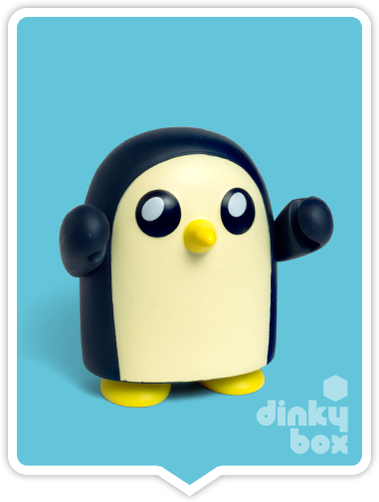 Kidrobot Adventure Time, blind boxed and open choice mini figures available to purchase in the UK. Here we have the cute GUNTER character ready to post from our hands to your UK home – comes complete with all original packaging.