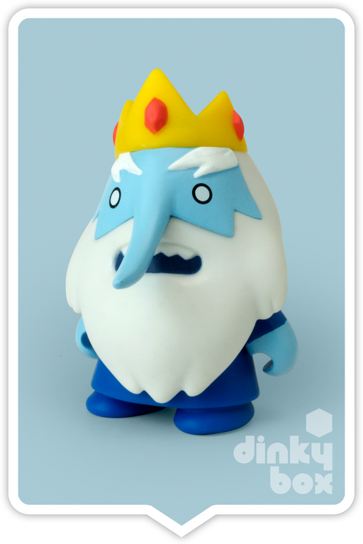 "OPEN BOX Kidrobot Adventure Time : 3"" Ice King 1/20 mini figure (complete with all original packaging) 15yrs+ - moosedinky"