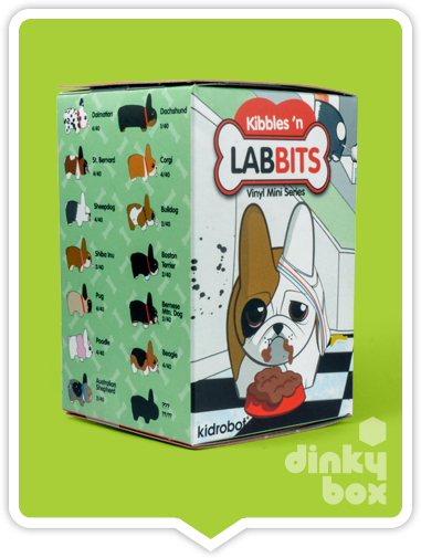 "OPEN BOX Kidrobot Kibbles 'N Labbit : 2.5"" Sheepdog mini figure 2/20 (complete with all original packaging) - moosedinky"