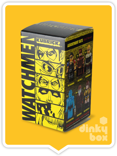 "OPEN BOX Medicom Kubrick DC Comics / Warner Bros. Watchmen : 2.5"" The Comedian mini figure 4/24 (complete with all original packaging) - moosedinky"