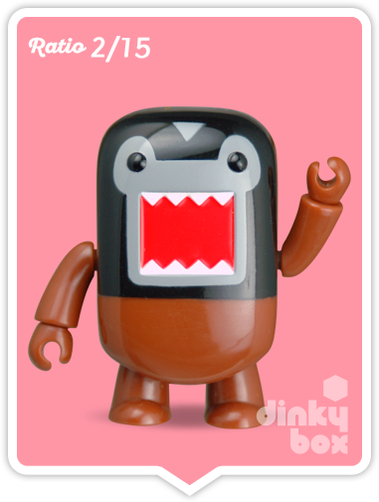 "OPEN BOX Toy2R Domo S4 Qee : 2"" Masked mini figure 2/15 (complete with all original packaging) - moosedinky"