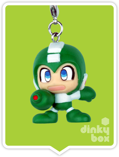 "OPEN BOX Capcom x Megahouse Rockman / Mega Man : 1.5"" GCC Rockman (Snake) Mascot Charm (complete with all original packaging) - moosedinky"