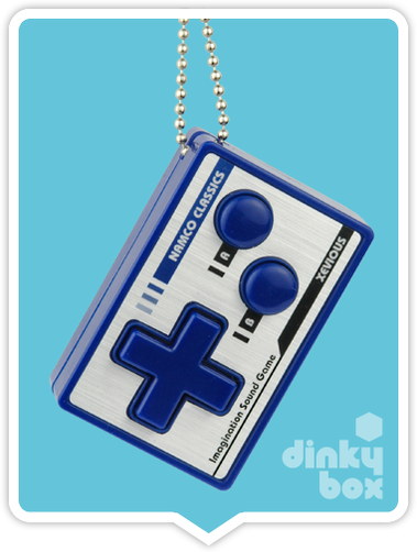 "CARDED Bandai (Japan) Imagination Game Sound Keychain : 3"" Xevious (contains a small battery) 15yrs+ - moosedinky"