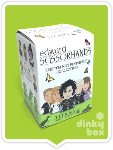 Titans Edward Scissorhands blind box vinyal figure available to purchase in the UK via your friendly dinkybox store. If purchasing more than one blind box, duplicates may occur.