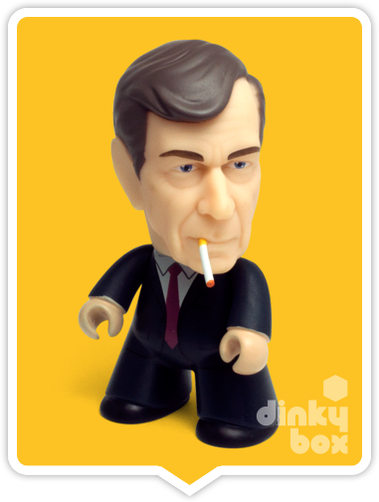 Titans X-Files Smoking Man vinyl figure available to purchase in the UK via your friendly dinkybox store.
