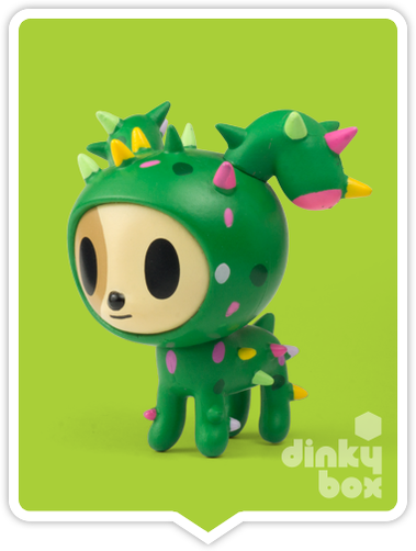"OPEN BOX Tokidoki Cactus Pets S1 : 3"" Diego Dog (complete with all original packaging) - moosedinky"