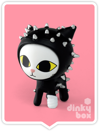 "OPEN BOX Tokidoki Cactus Pets S1 : 3"" Notte Cat (complete with all original packaging) - moosedinky"