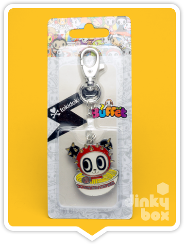 "CARDED Tokidoki Buffet Keychain : 2"" Cactus Friends Panda with Oddles of Noodles - moosedinky"