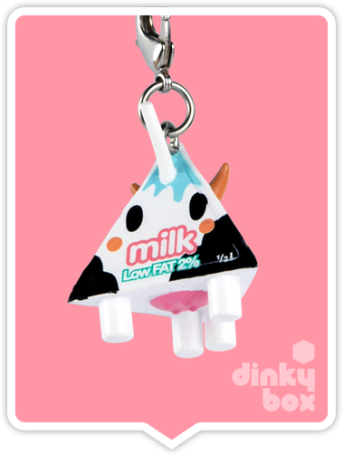 "OPEN BOX Tokidoki Classic Frenzies : 1"" Moofia Low Fat Milk charm (complete with all original packaging) - moosedinky"