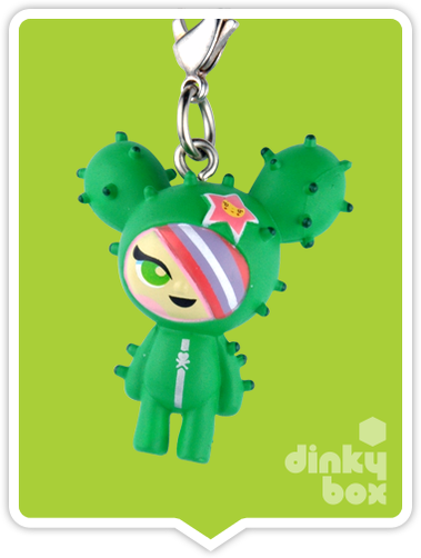 "OPEN BOX Tokidoki Classic Frenzies : 1"" Cactus Friends Sandy charm (complete with all original packaging) - moosedinky"