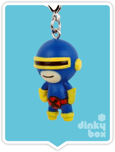 "OPEN BOX Tokidoki Marvel Frenzies : 1"" Cyclops charm (complete with all original packaging) - moosedinky"