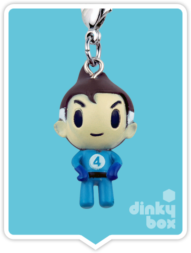 "OPEN BOX Tokidoki Marvel Frenzies : 1"" Mr Fantastic charm (complete with all original packaging) - moosedinky"