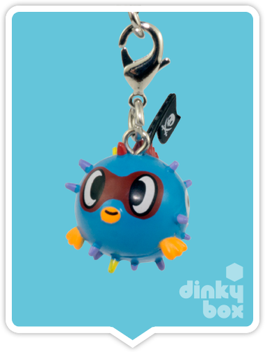 "OPEN BOX Tokidoki Sea Punk Frenzies : 1"" Pirate Puff zipper-pull / charm (complete with all original packaging) - moosedinky"