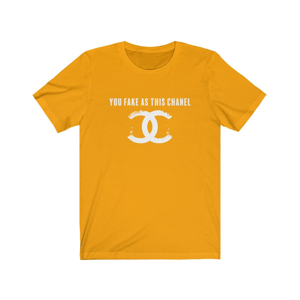 You Fake Jersey Short Sleeve Tee Gold