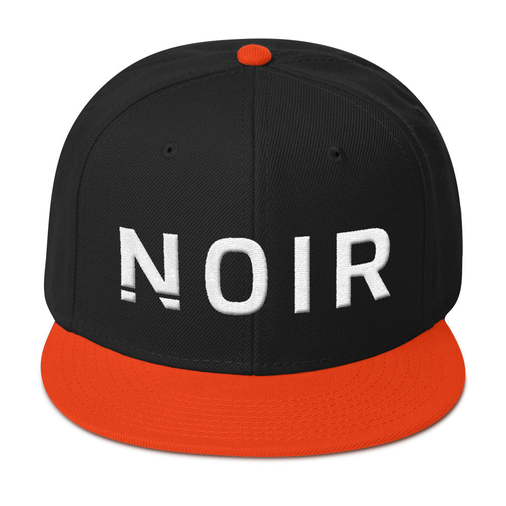 Noir Girl Magic Noir Snapback Cap Orange Black