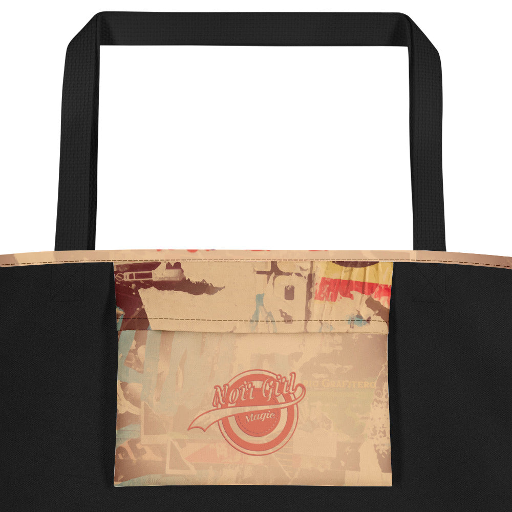 Nori & Zoya Graffiti Carry All Bag | Inside Pocket