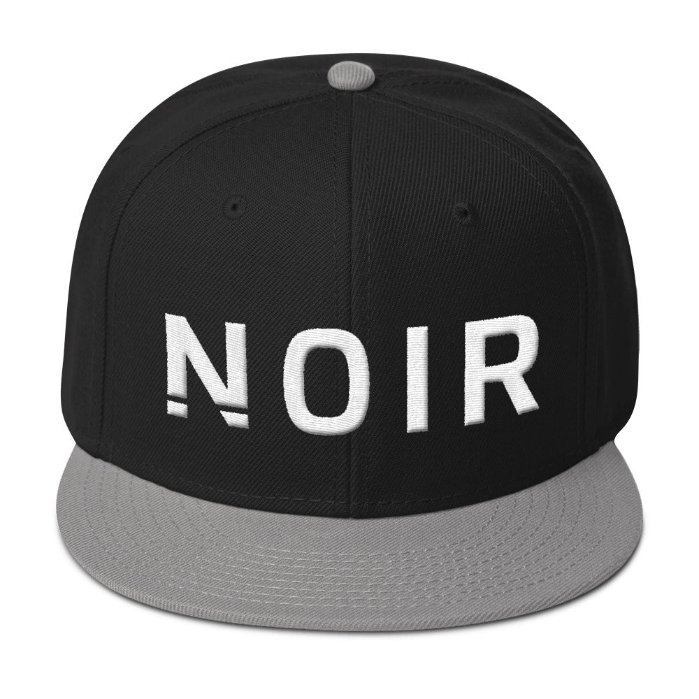 Noir Girl Magic Noir Snapback Cap Gray Black
