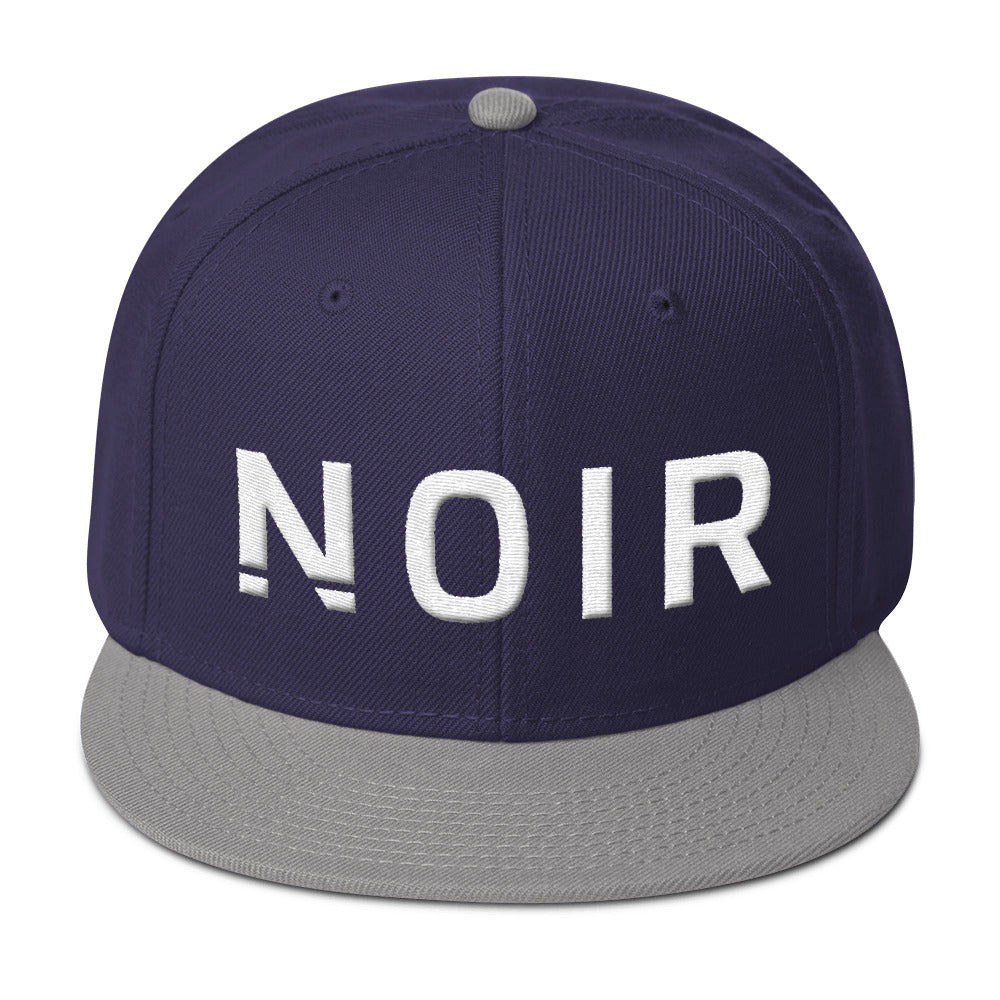 Noir Girl Magic Noir Snapback Cap Gray Navy Blue
