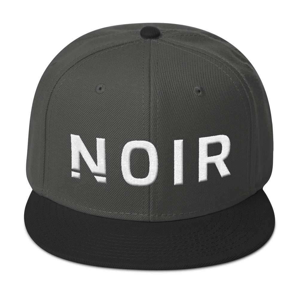 Noir Girl Magic Noir Snapback Cap Black Charcoal Gray