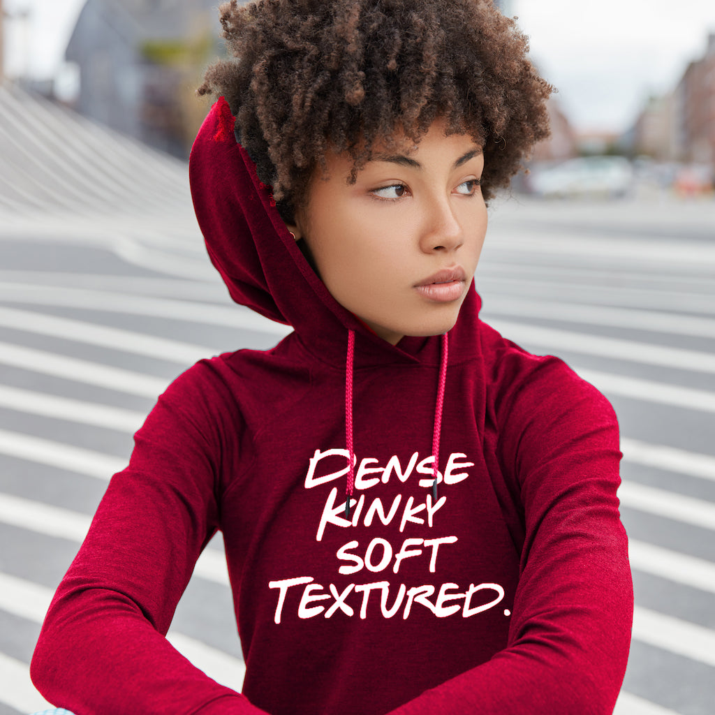 Dense Kinky Soft Textured Pullover Hoodie Model Red
