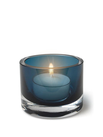 "2""H - Vellas Tealight Candle Holder Night Blue"