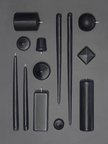 Black + Gray Candles