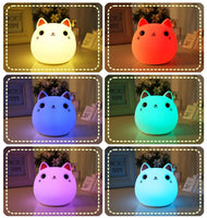 Friendly Silicone Cat Lamp