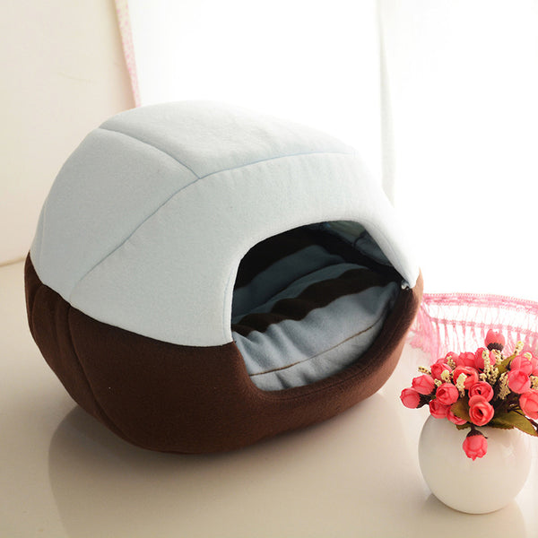 2 Uses Foldable Soft Warm Cat & Dog Bed