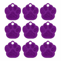 2 Sides Cat & Dog Paw Shape Tag