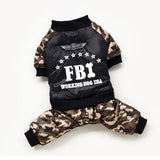 Cool FBI Dog Jumpsuit Costume