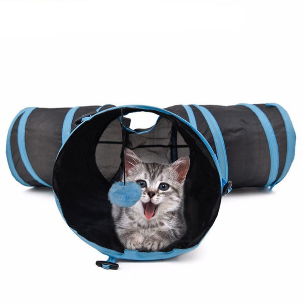 Foldable Special Design Y Shape Cat Tunnel