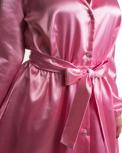Nightcap Robe in Bubbly Pink - Mini Atomic Totes