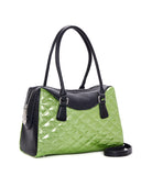 Route 66 Tote Black Matte and Emerald City Sparkle - Mini Atomic Totes