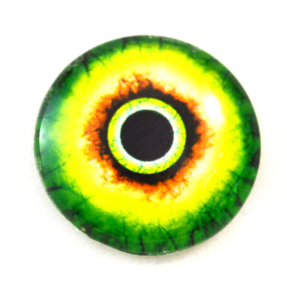 Green and Yellow Monster Glass Eye