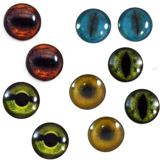 Animal Glass Eyes Bundle - 5 Pairs
