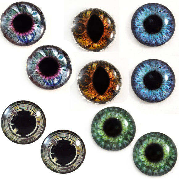 steampunk glass eyes