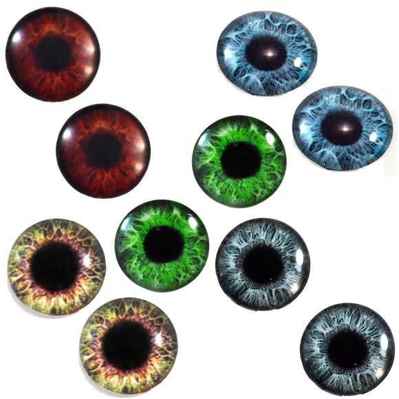 5 pairs of human glass eyes bundle