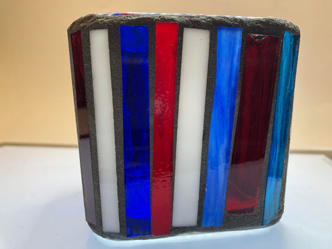 Image of Mosaic Glass Votive