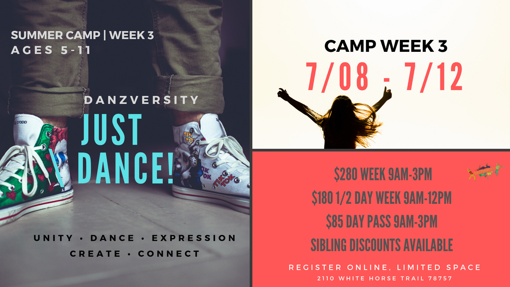 DANZVERSITY SUMMER CAMPS 2019 WEEK 3
