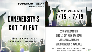 DANZVERSITY SUMMER CAMPS 2019 WEEK 4