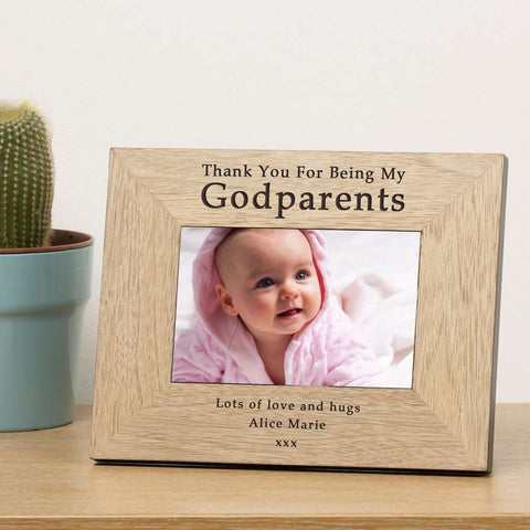 Thank You For Being My Godparents Photo Frame from Pukkagifts.uk