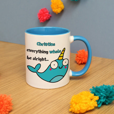 Personalised Everything Whale Be Alright Mug