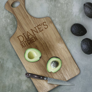 Personalised Paddle Chopping Board from Pukkagifts.uk