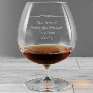 Personalised Decorative Brandy Glass from Pukkagifts.uk