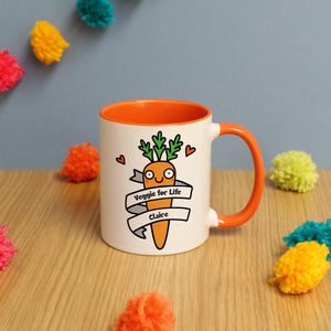 Personalised Veggie For Life Mug