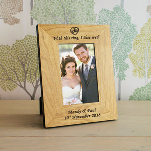 Personalised With This Ring, I Thee Wed Photo Frame from Pukkagifts.uk