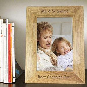 Personalised 5x7 Wooden Photo Frame from Pukkagifts.uk