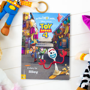 Personalised Toy Story 4 Book from Pukkagifts.uk