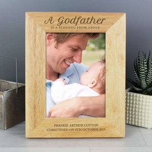Engraved Godfather Photo Frame from Pukkagifts.uk